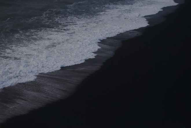 photo of black sand beach